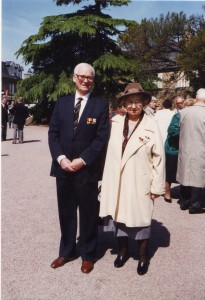Paul and Marie Thueux - Decorateed French Resistance Workers 30 April 1995 Perros Guirec