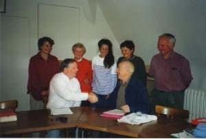 Mary Kennedy, Pierre Journe, Shirley Mills, Kathryn , Bob Kennedy Veronique, Michael Mills 19/10/02