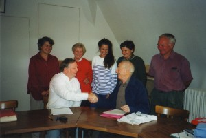 Mary Kennedy, Pierre Journe, Shirley Mills, Kathryn , Bob Kennedy Veronique, Michael Mills 19/10/02
